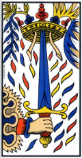 As d'Épée Tarot de Marseille interprétation