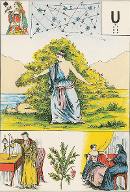 Dame de pique tarot de Melle LENORMAND interprétation