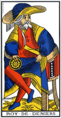Roi de Denier Tarot de Marseille interprétation