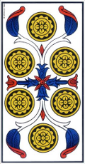 Six de Denier Tarot de Marseille interprétation