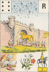 Six de pique Melle Lenormand interprétation
